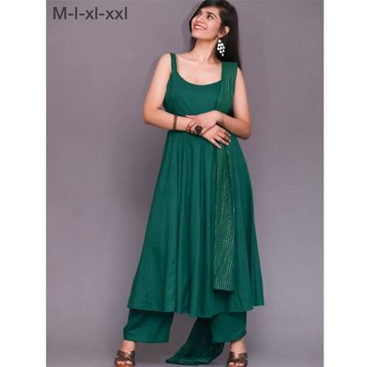 Picture of Women Fancy Frock Top with Wide Plazo