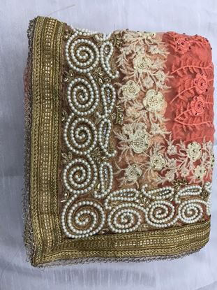 Picture of Women Embroidery multi work Saree