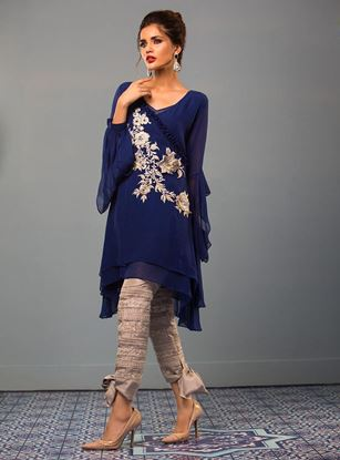 Picture of Elegant Embroidery Kurti with Pants