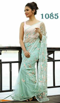 Picture of Heavy Net Embroidery Saree