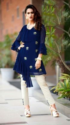 Picture of Designer Ruffel Tunic & Pant