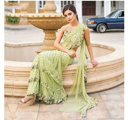 Picture of Embrodiery Saree With Choli