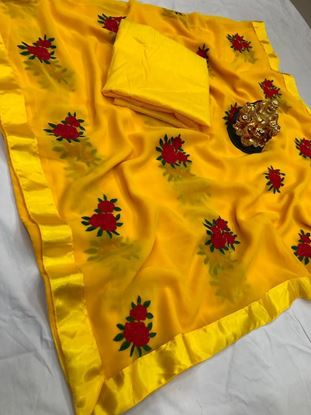 Picture of Embrodiery Sareee And Plain Blouse