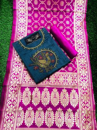 Picture of Peacock Chanderi silk Dresses