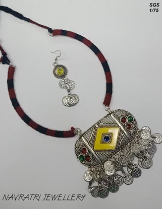 Picture of Navratri Jewellary Fancy Beads Necklace with Earring Set