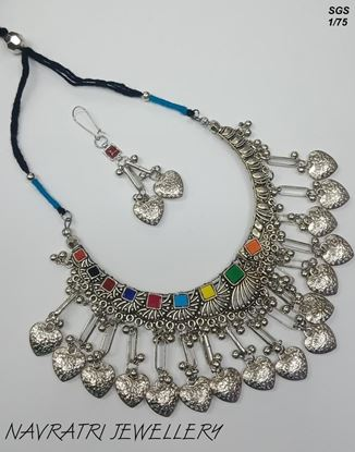 Picture of Navratri Jewellary Necklace with Earring Set