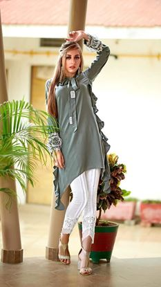 Picture of Designer Ruffle Tunic with Pant