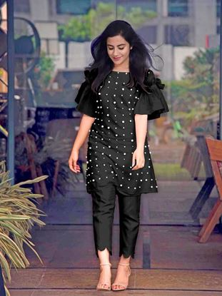 Picture of Designer Pearl Kurti with Pants