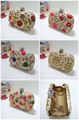 Picture of Embroidered Diamond Clutch Navrartri Special