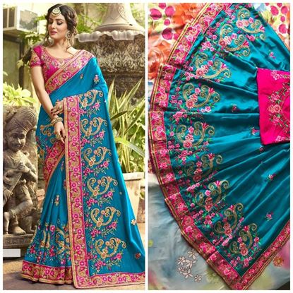 Picture of Embrodiery Sareee With Blouse