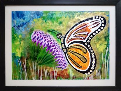 Picture of Butterfly Modern Art Print Framed Painting