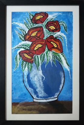 Picture of Flowerpot Canvas Paper Painting Wall Frame