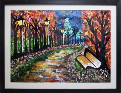 Picture of Melody Of The Street Night Scenery Wall Painting Frame