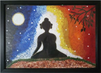 Picture of Peaceful Lord Gautam Buddha Wall Frame Painting