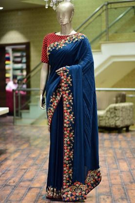 Picture of Embroidery Saree With Blouse