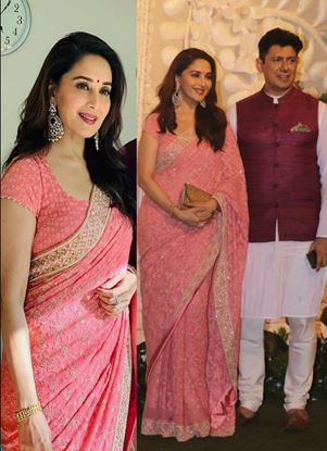 Picture of Madhuri Dixit Saree With Blouse
