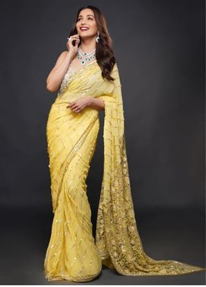 Picture of New Designer Embrodiery Saree With Blouse