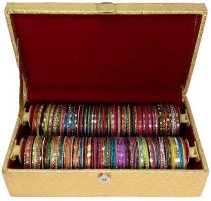 Picture of Golden Rexine Bangle Box