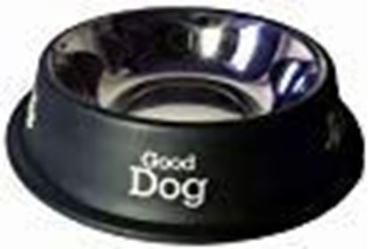 Picture of PET Stainless Steel Dog Food Bowl (Black, 460 ml)