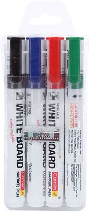 Picture of Camlin Kokuyo PB White Board Marker - Pack of 4 Assorted Colors (Black, Blue, Red, Green)
