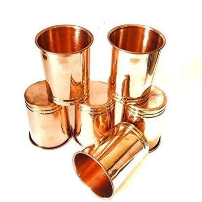 Picture of Shilpa Steel Works Pure Copper Tumbler Glass - 300Ml (Set of 6)