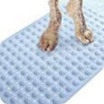 Picture of ORICAL SALES Non-Slip Bath Mat for Toilet, Kitchen, Bathroom, Shower with Anti Slip Suction Cups (Multicolour, 70 x 37 cm)