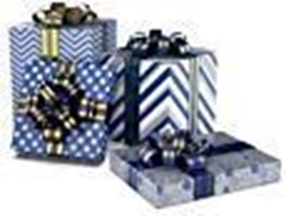 """Picture of LussoLiv Premium Gift Wrapping Sheets 4 Designs X 5 Sheets (20 Wrapping Sheets) Size 17""""x 24"""" Inches Metallica 2"""