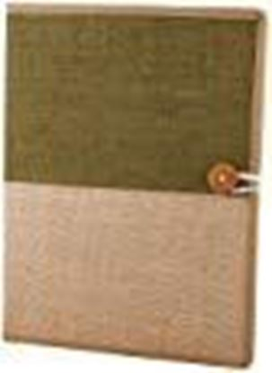 Picture of AmazingHind Jute File Folders for Certificates, Document Holder, Jute Conference Folder (Size: A4, Color: Green & Beige)