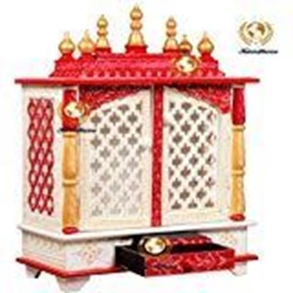 Picture of Pranjals House Beautiful Wooden Temple/Pooja Mandir for Office & Home