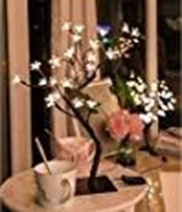 Picture of AtneP Lights 24 LED Tree for Diwali Christmas Home Decoration Festival Decor Lights 14x5 Inches Warm White