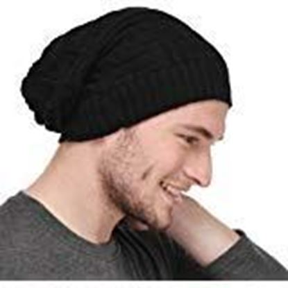 Picture of Anky Winter Wear Knitted Woolen Beanies for Men and Women Black