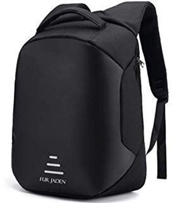 Picture of Fur Jaden Anti Theft Water Repellent 15.6 Inch Laptop Backpack Bag with USB Charging Port