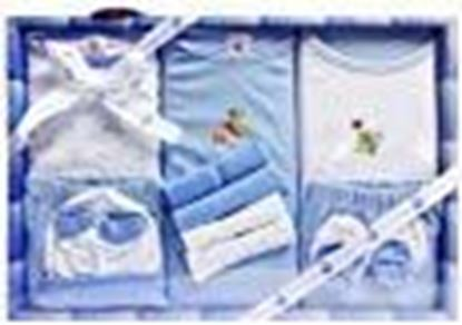 Picture of Mini Berry New Born Baby Gift Set in Blue Color 13 PCs