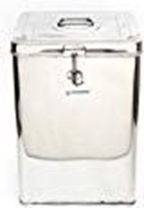 Picture of Coconut Stainless Steel Grocery Container, 8 Liters, Silver