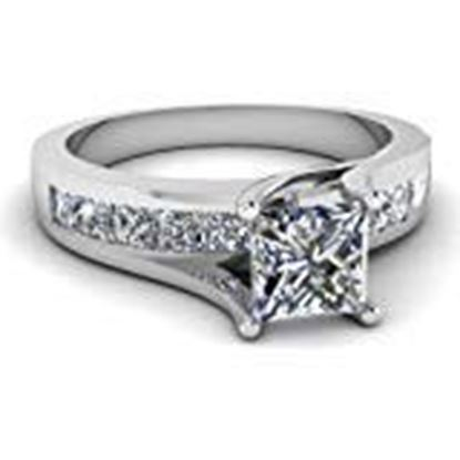Picture of RM Jewellers 92.5 Sterling Silver American Diamond Fabulous Princess Ring for Women