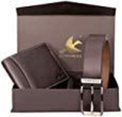 Picture of HORNBULL Men's Leather Wallet and Belt Combo(BW4595_Brown)