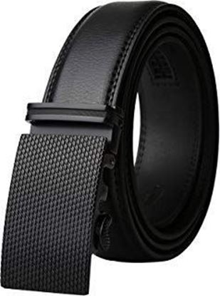 Picture of Men's Fashion Leather Belts with Automatic Ratchet Buckle belt