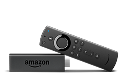 Picture of Fire TV Stick streaming media player with Alexa built in, includes all-new Alexa Voice Remote, HD, easy set-up, released 2019