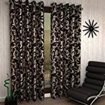 Picture of V Decor Eyelet Single 1 Piece Polyester Brown Curtain,Window 5 Feet