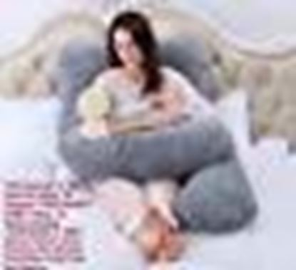 Picture of Snoozy Ultra Soft PregnancyPillow/Maternity Pillow Multi Purpose with Removable Cover & Zip (U-Shape)- Grey
