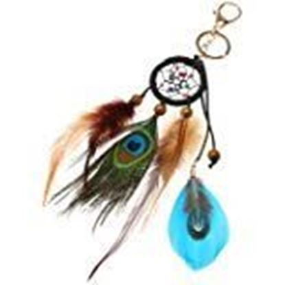 Picture of Electomania Dream Catcher Keyring, Bohemian Style Handmade Keychain