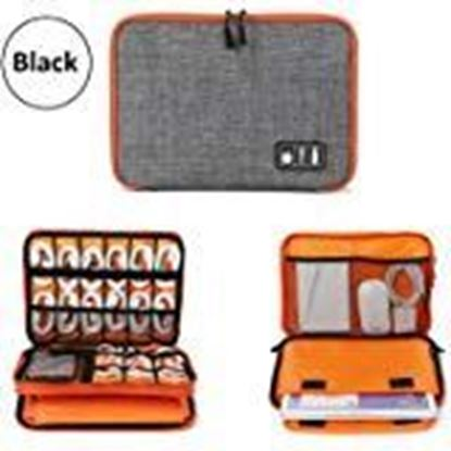 Picture of TOUARETAILS Travel Digital Accessories Storage Bag, Gadget Organizer Case Portable Zippered Pouch For All Small Gadgets Tablet, iPad Mini, Charger, Power Bank, Earphones, Memory Card, USB Data Cable, Camera Accessories Pen Drive etc
