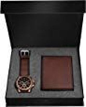 Picture of LORENZ Brown Watch and Wallet Combo for Men