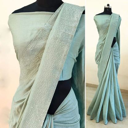 Picture of Silk Saree With Blouse Piece