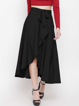 Picture of Women Solid Wrap Around Skirt