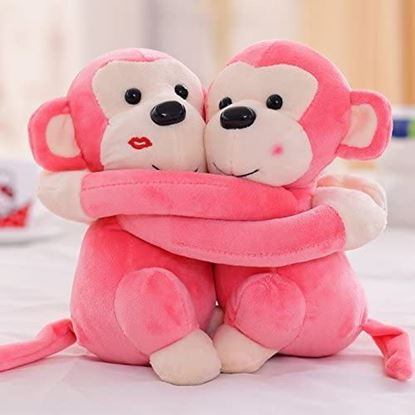 Picture of Couple Monkey's Stuffed Soft Toy