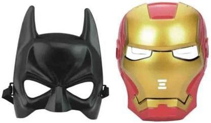 Picture of Batman And Iron Man Shape Face Mask For Kids Party Mask