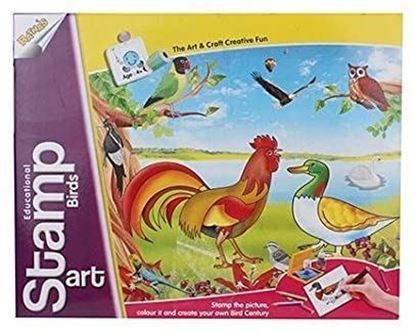 Picture of Educational Art & Craft Stamp Art Birds Small with 6 Different Birds Stamps