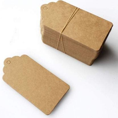 Picture of Kraft Paper Varied Sizes Small, Medium and Large Twine Tag (Brown)