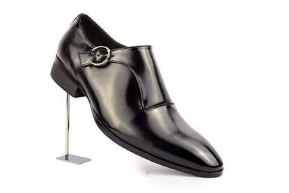 Picture of Mens Formal Buckle Leather Single Monk Strap Shoes